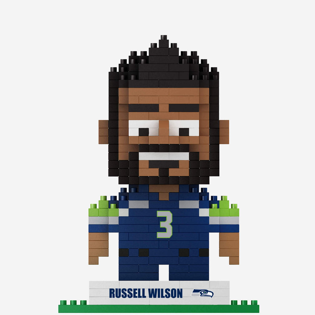Russell Wilson Seattle Seahawks BRXLZ Mini Player