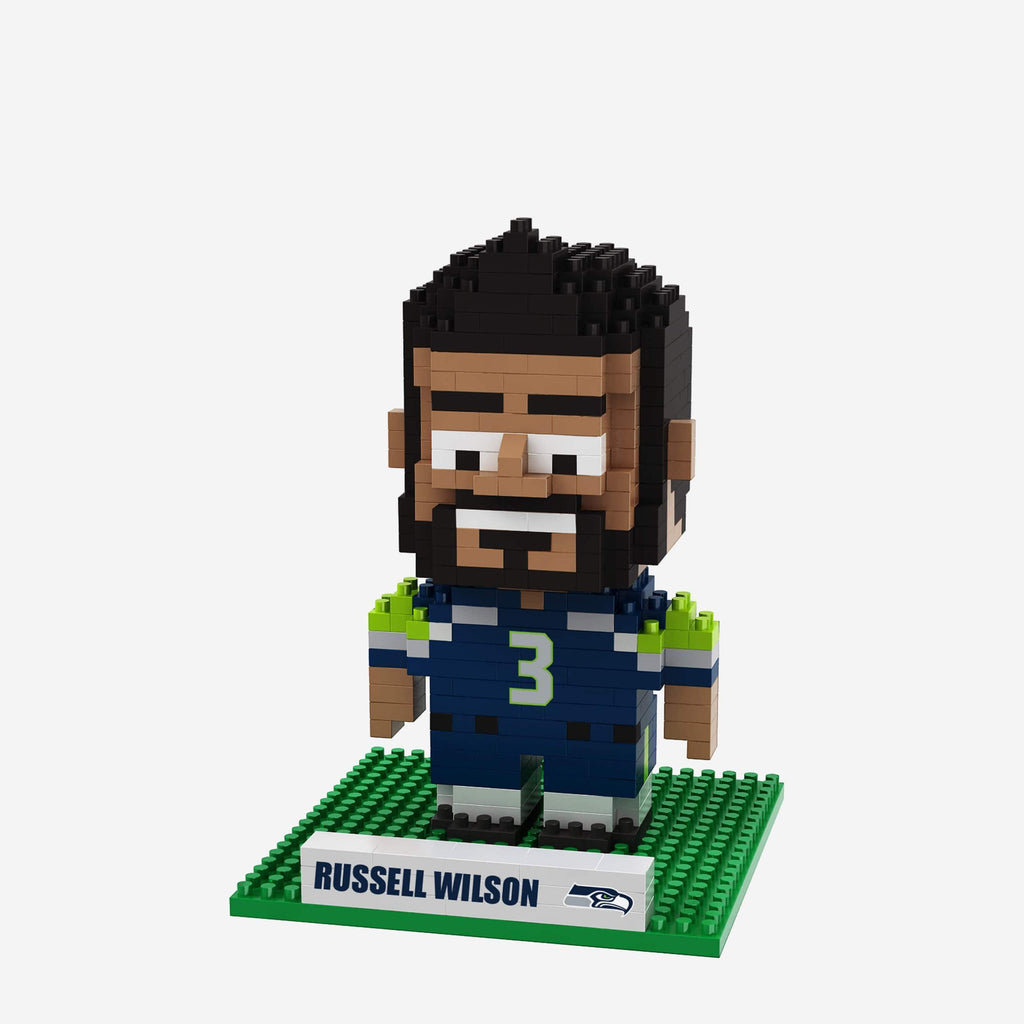 Russell Wilson Seattle Seahawks BRXLZ Mini Player FOCO - FOCO.com