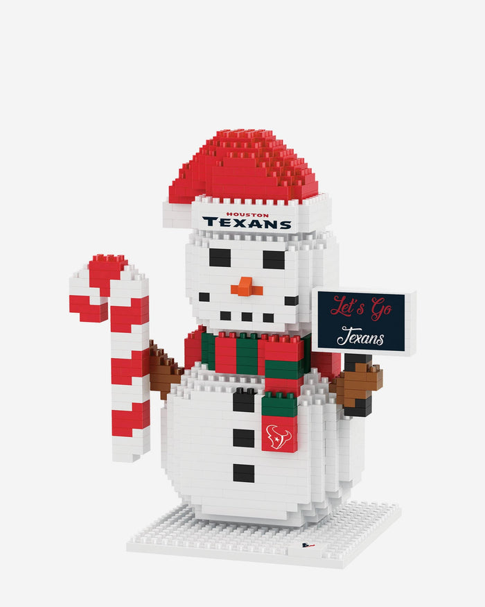 Houston Texans BRXLZ Snowman FOCO - FOCO.com