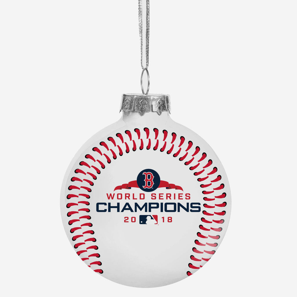 Boston Red Sox 2018 World Series Champions Glass Ball Ornament