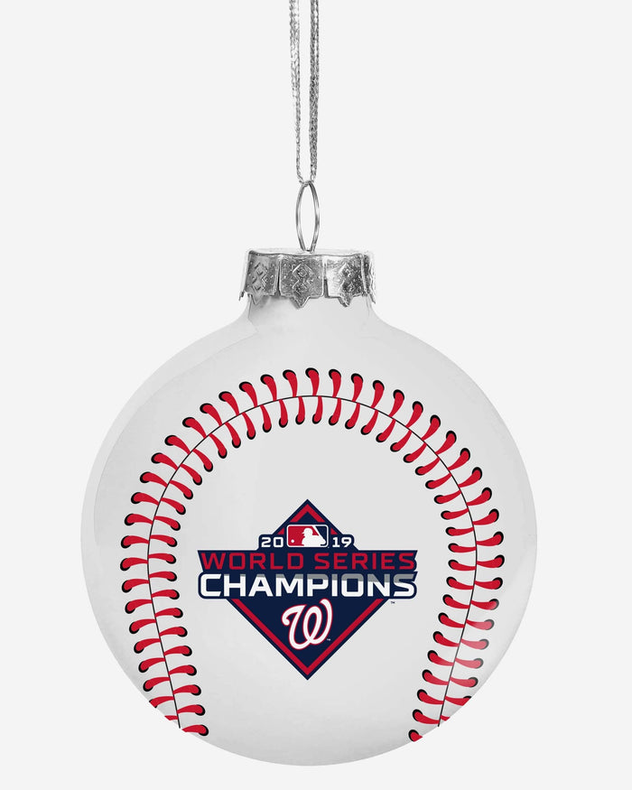 Washington Nationals 2019 World Series Champions Glass Ball Ornament FOCO - FOCO.com