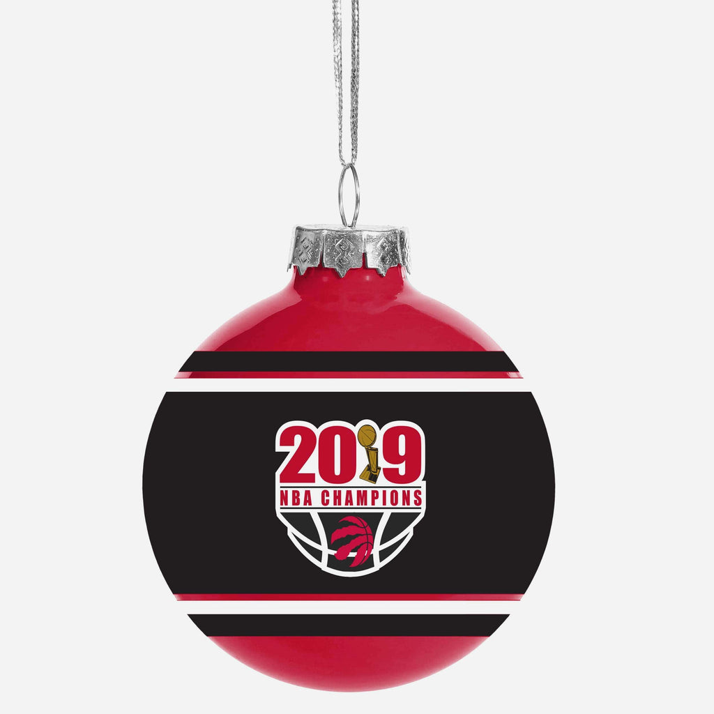Toronto Raptors 2019 NBA Champions Glass Ball Ornament FOCO - FOCO.com