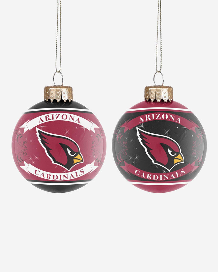 Arizona Cardinals 2 Pack Ball Ornament Set FOCO - FOCO.com