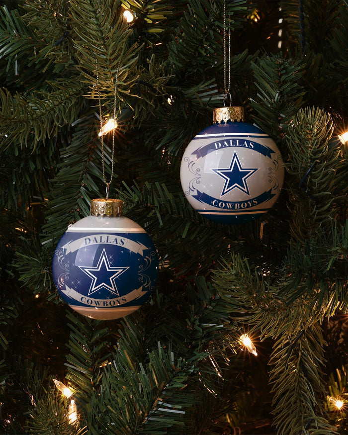 Dallas Cowboys 2 Pack Ball Ornament Set FOCO - FOCO.com