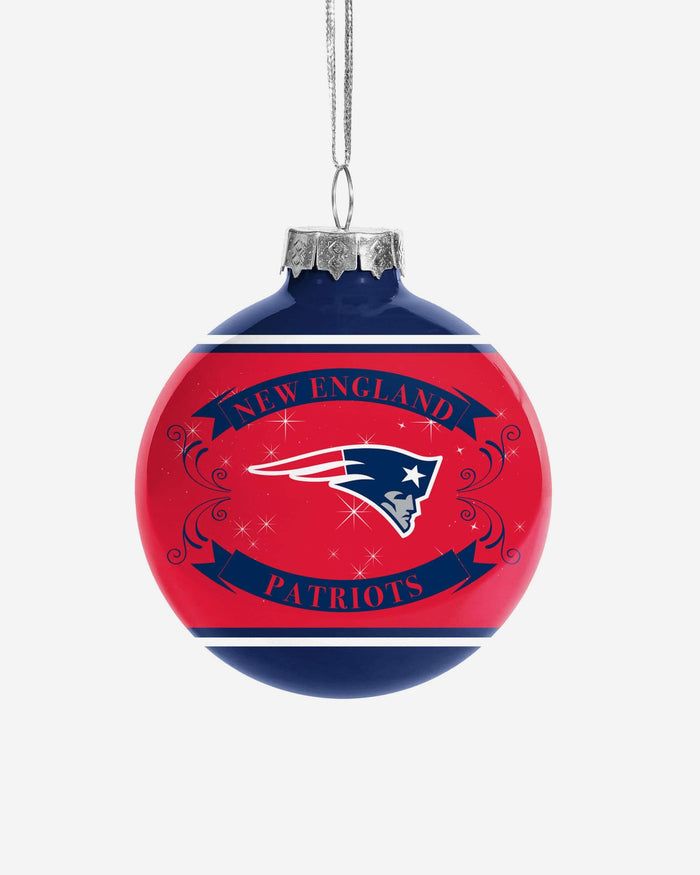 New England Patriots 2 Pack Ball Ornament Set FOCO - FOCO.com