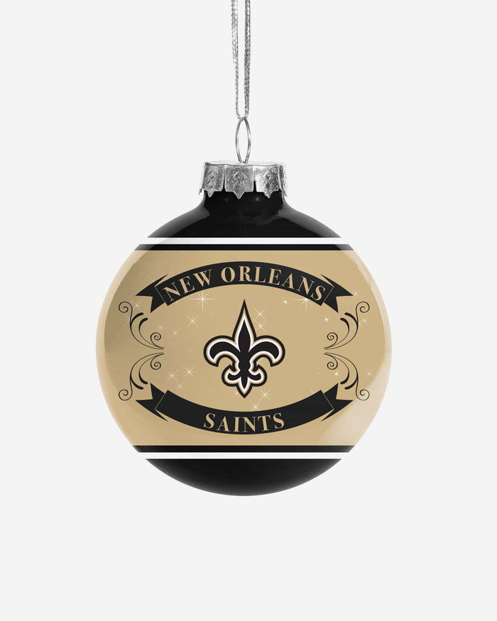 New Orleans Saints 2 Pack Ball Ornament Set FOCO - FOCO.com