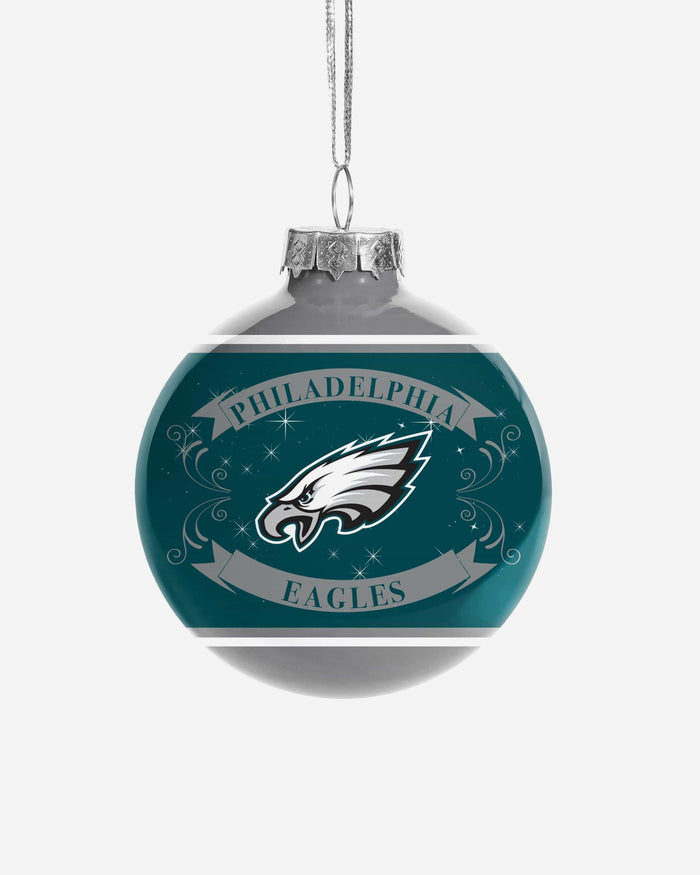 Philadelphia Eagles 2 Pack Ball Ornament Set FOCO - FOCO.com