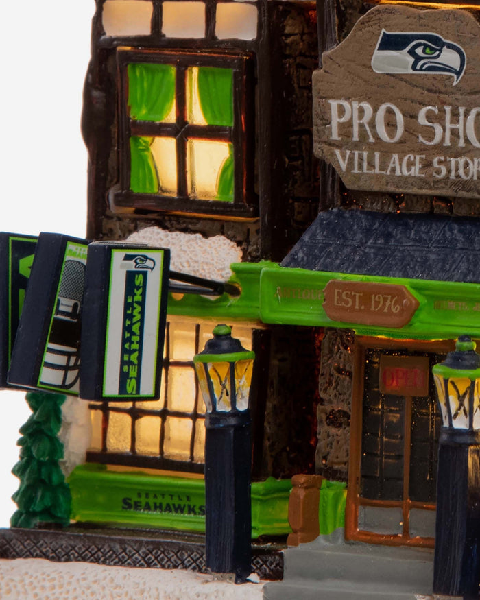 Seattle Seahawks Light Up Resin Team Village FOCO - FOCO.com
