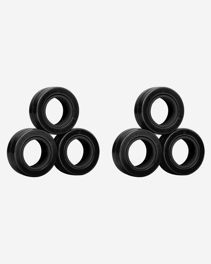 Solid Black 6 Pack Magnetic Finger Rings FOCO - FOCO.com