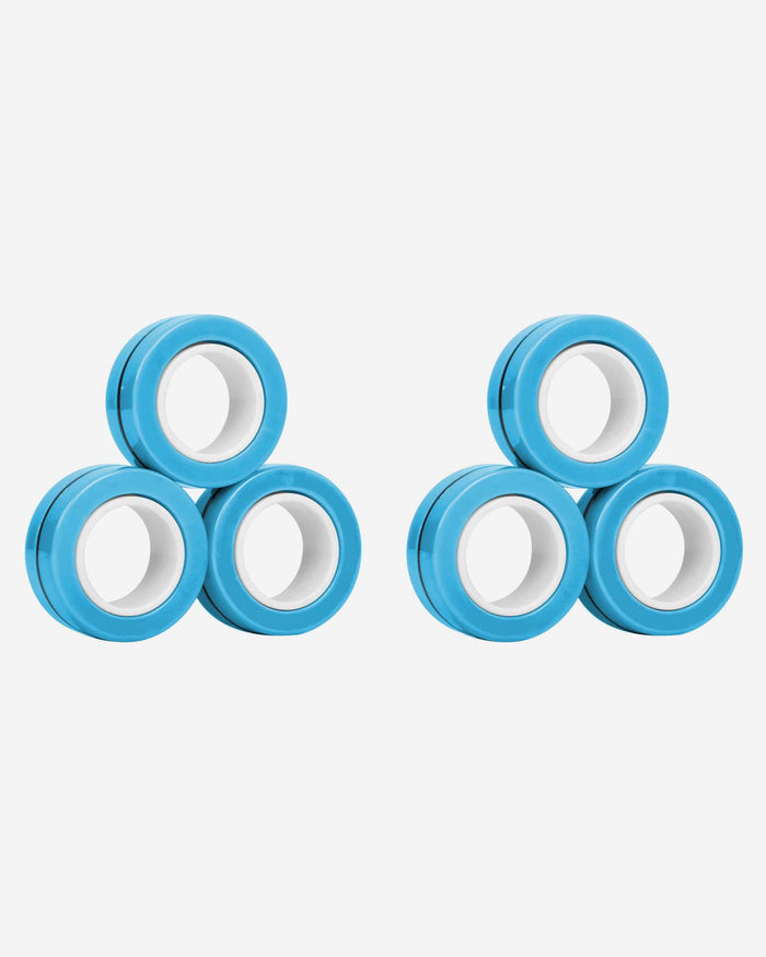 Solid Light Blue 6 Pack Magnetic Finger Rings FOCO - FOCO.com
