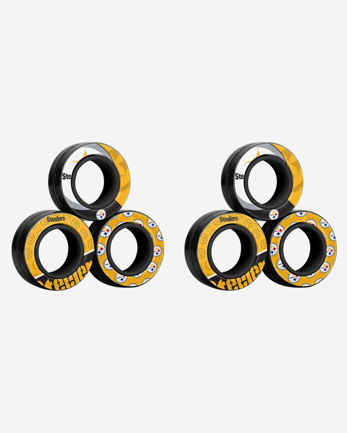 Pittsburgh Steelers 6 Pack Magnetic Finger Rings FOCO - FOCO.com