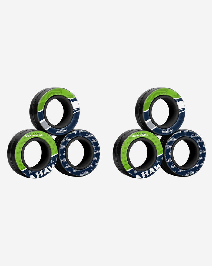 Seattle Seahawks 6 Pack Magnetic Finger Rings FOCO - FOCO.com