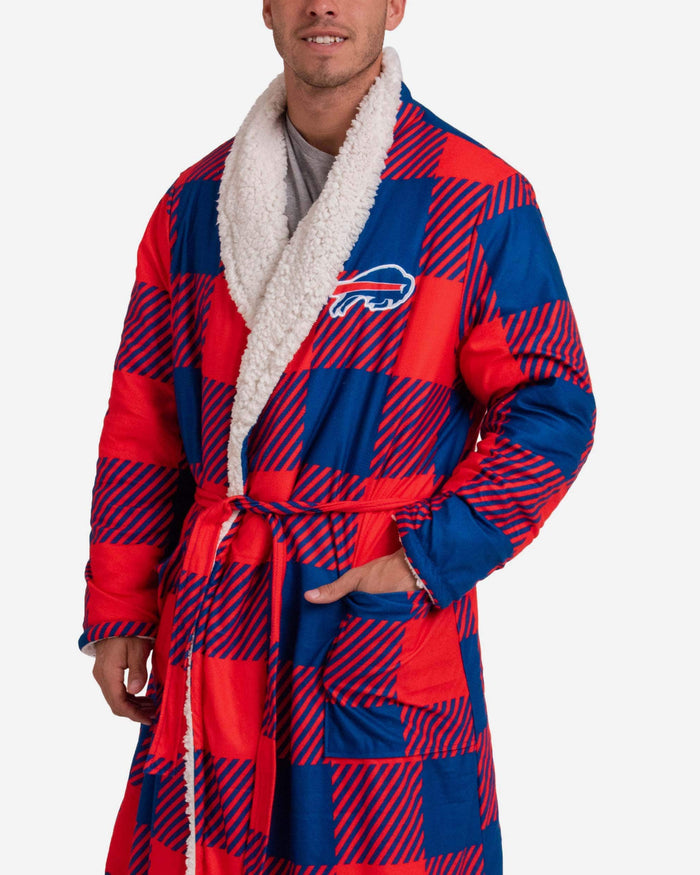Buffalo Bills Lounge Life Reversible Robe FOCO - FOCO.com