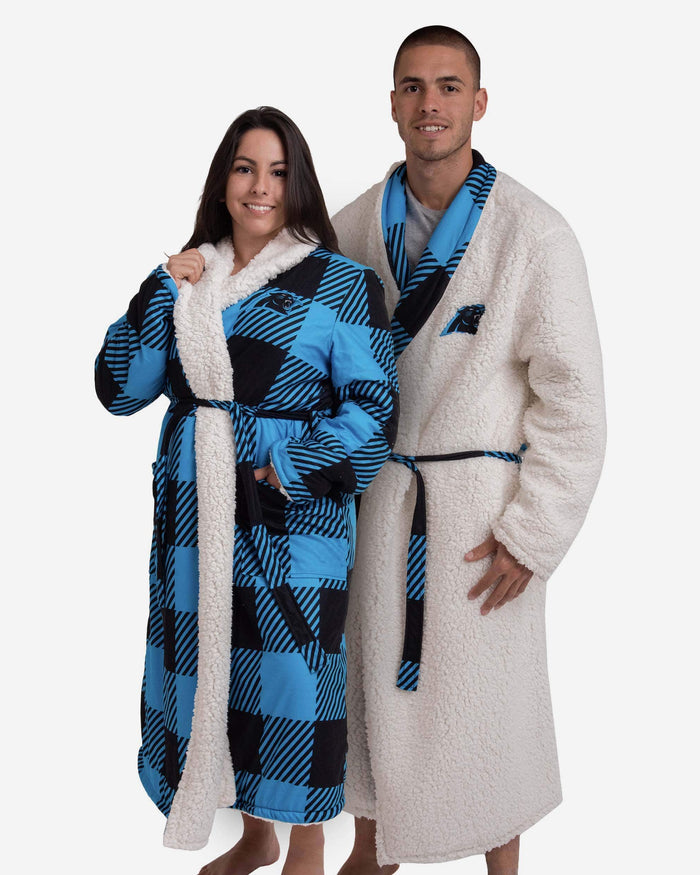 Carolina Panthers Lounge Life Reversible Robe FOCO S/M - FOCO.com