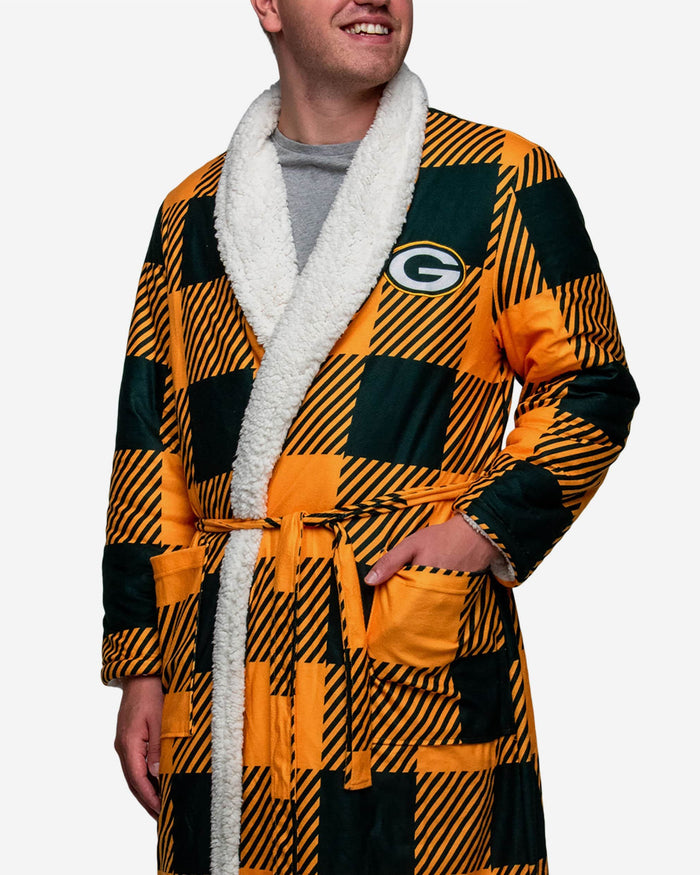 Green Bay Packers Lounge Life Reversible Robe FOCO - FOCO.com