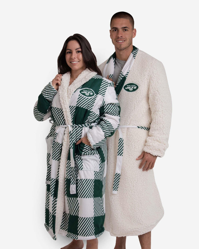 New York Jets Lounge Life Reversible Robe FOCO S/M - FOCO.com