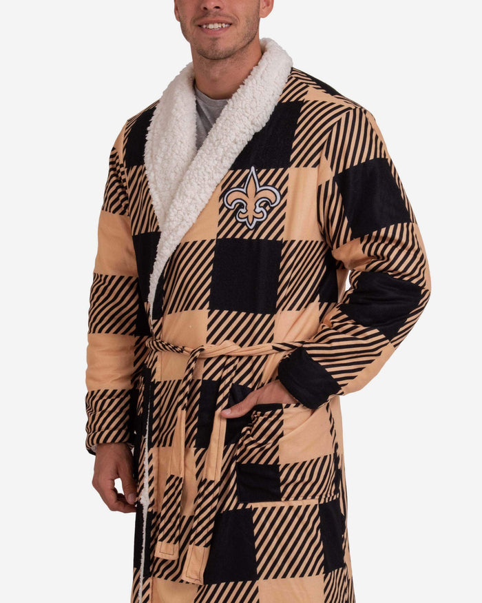 New Orleans Saints Lounge Life Reversible Robe FOCO - FOCO.com