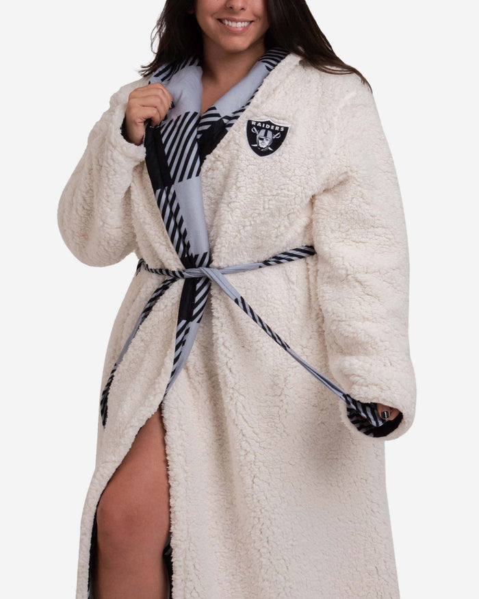 Oakland Raiders Lounge Life Reversible Robe FOCO - FOCO.com