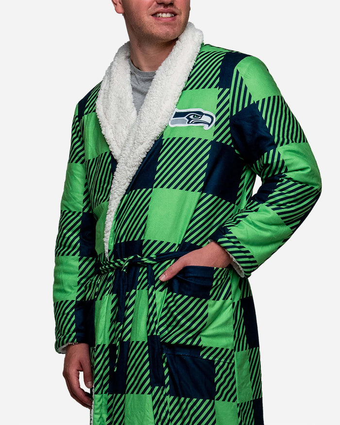 Seattle Seahawks Lounge Life Reversible Robe FOCO - FOCO.com