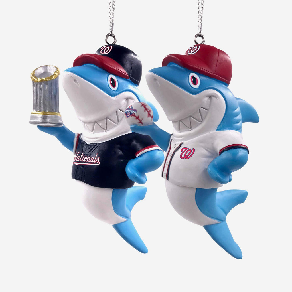 Washington Nationals 2019 World Series Champions 2 Pack Resin Shark Ornament FOCO - FOCO.com