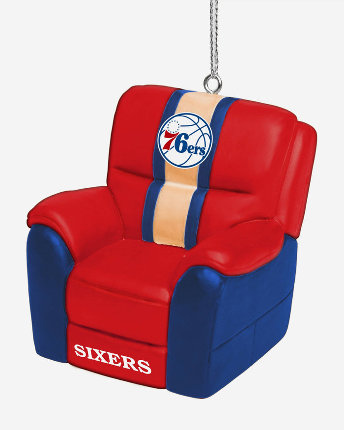 Philadelphia 76ers Reclining Chair Ornament FOCO - FOCO.com