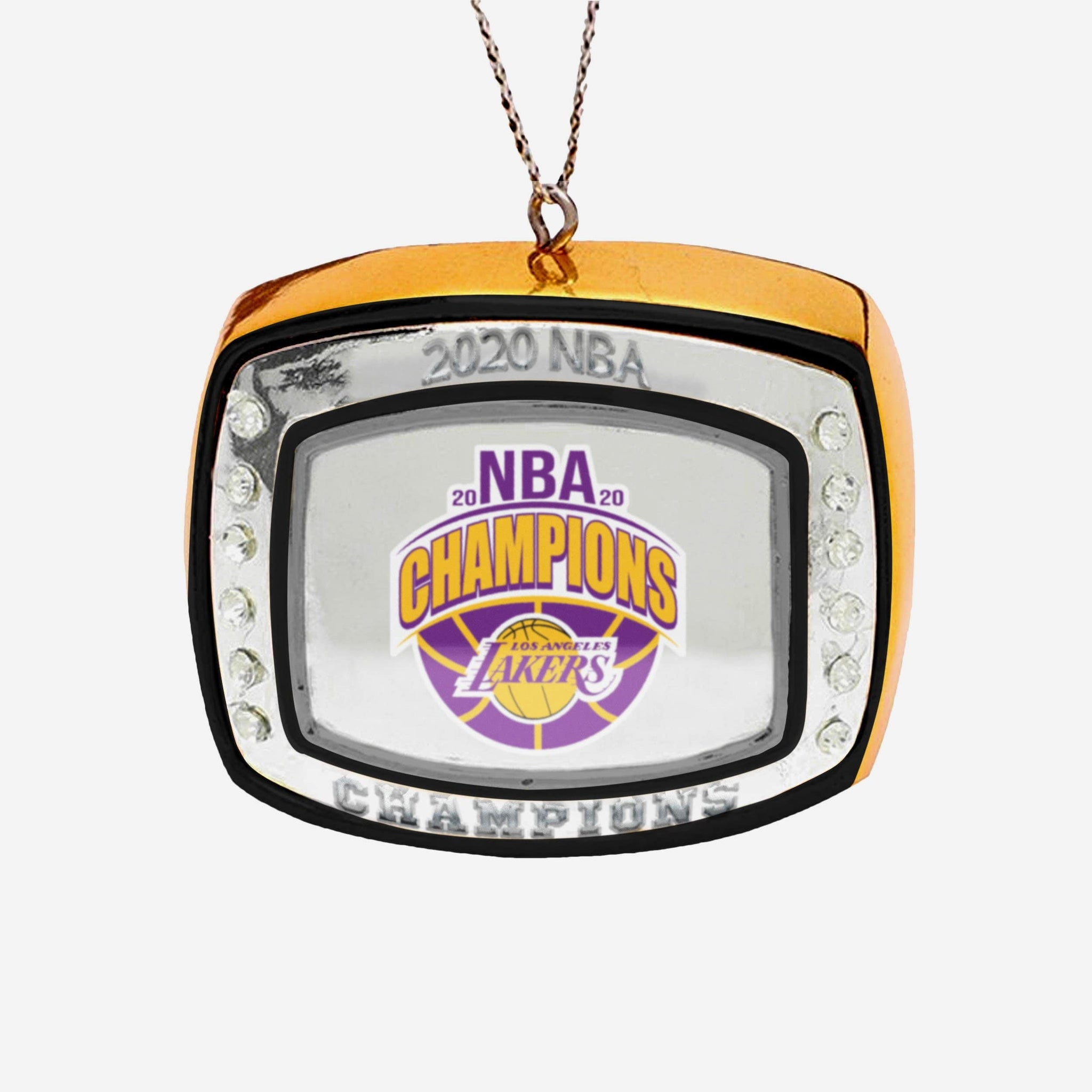Los Angeles Lakers 2020 Nba Champions Ring Ornament Foco