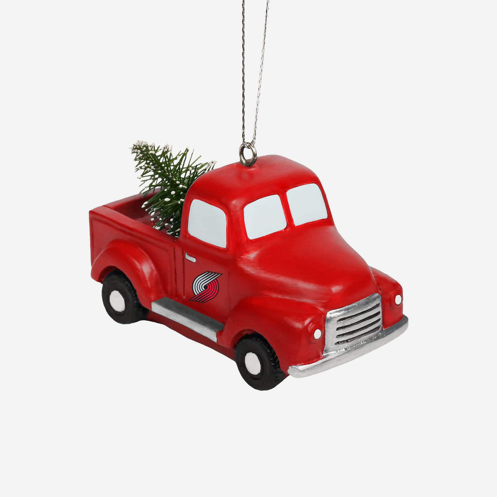 Portland Trail Blazers Truck With Tree Ornament FOCO - FOCO.com