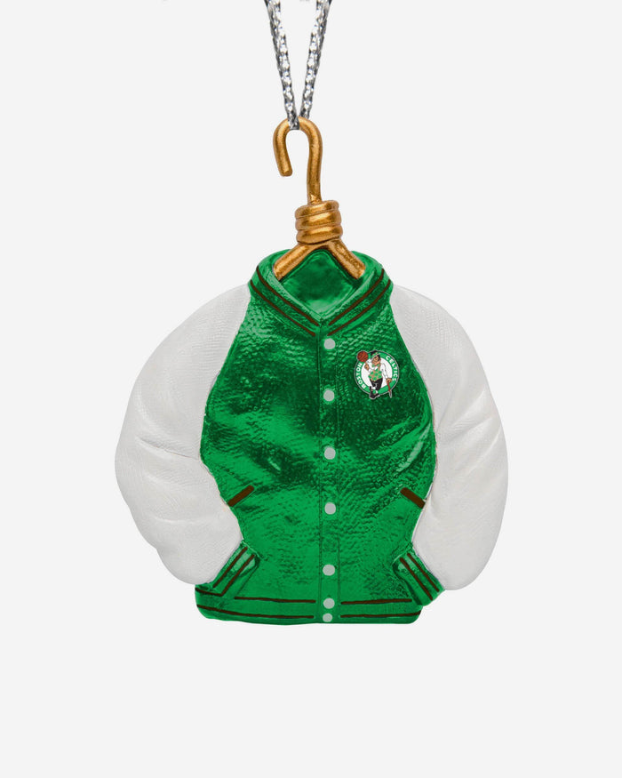Boston Celtics Varsity Jacket Ornament FOCO - FOCO.com