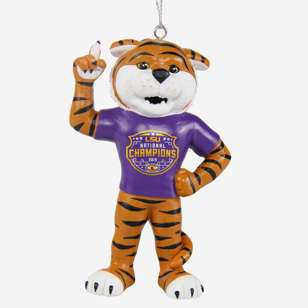 LSU Tigers 2019 Football National Champions Mascot Ornament FOCO - FOCO.com