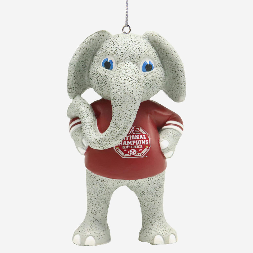 Alabama Crimson Tide 2020 Football National Champions Mascot Ornament FOCO - FOCO.com