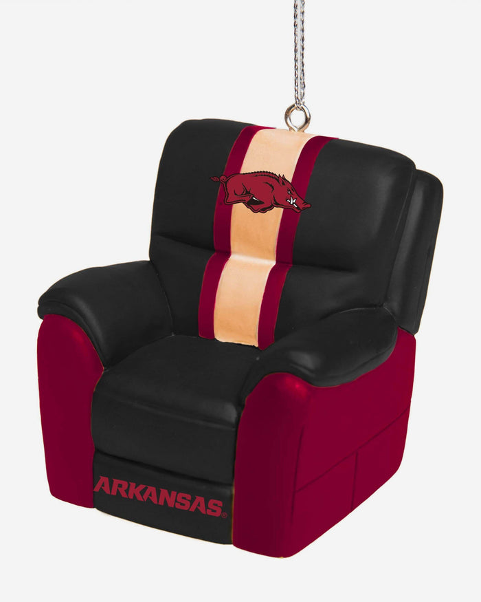 Arkansas Razorbacks Reclining Chair Ornament FOCO - FOCO.com