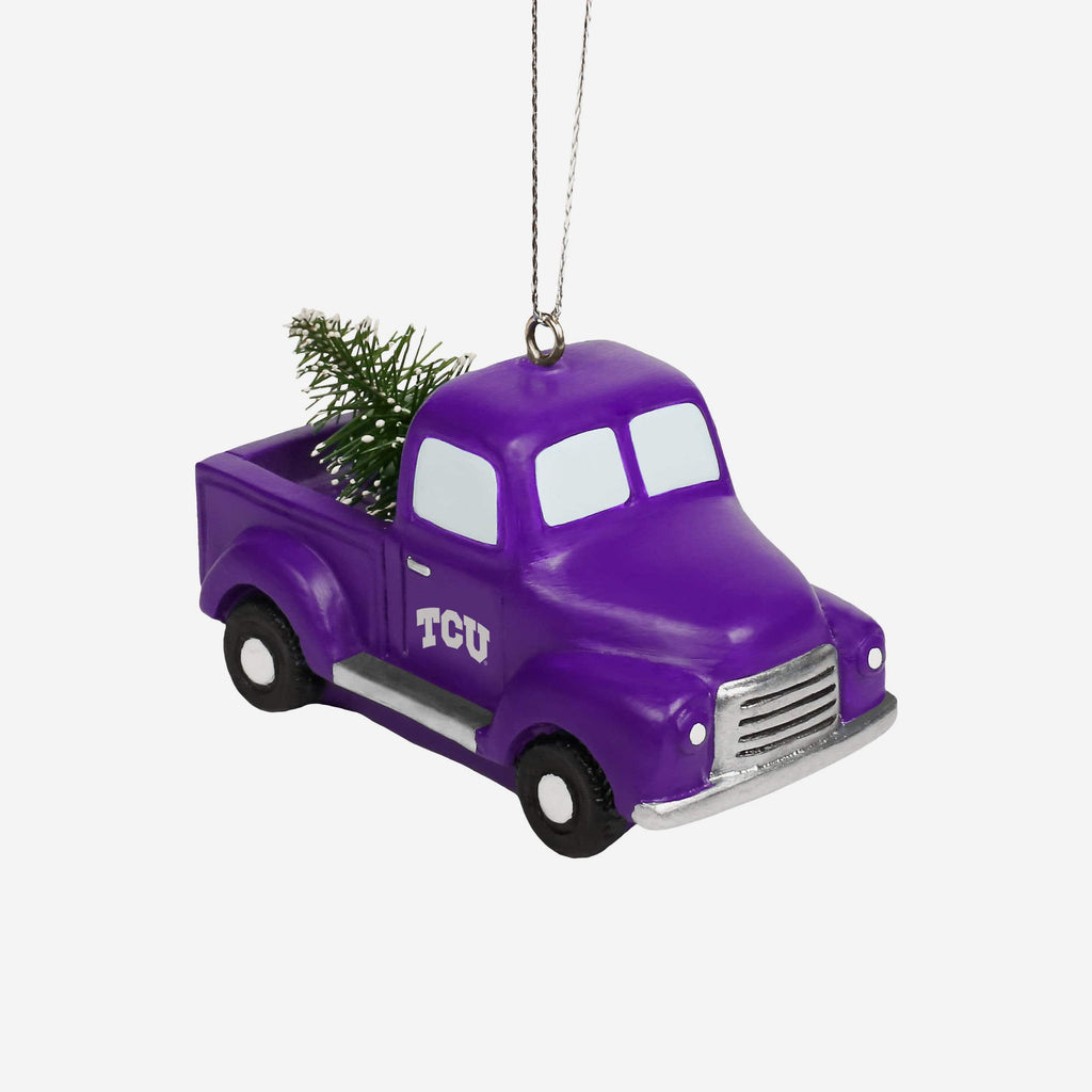 TCU Horned Frogs Truck With Tree Ornament FOCO - FOCO.com
