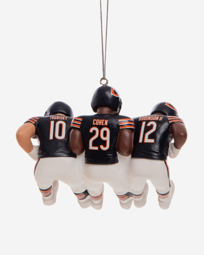 Chicago Bears 3 Player Team Celebration Ornament FOCO - FOCO.com