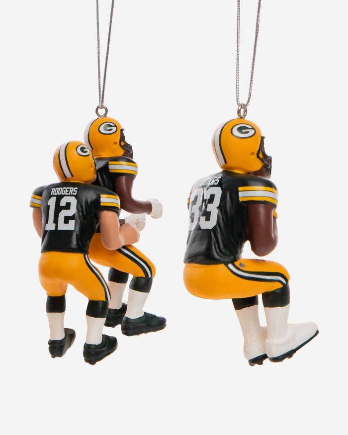 Green Bay Packers 3 Player Team Celebration Ornament FOCO - FOCO.com