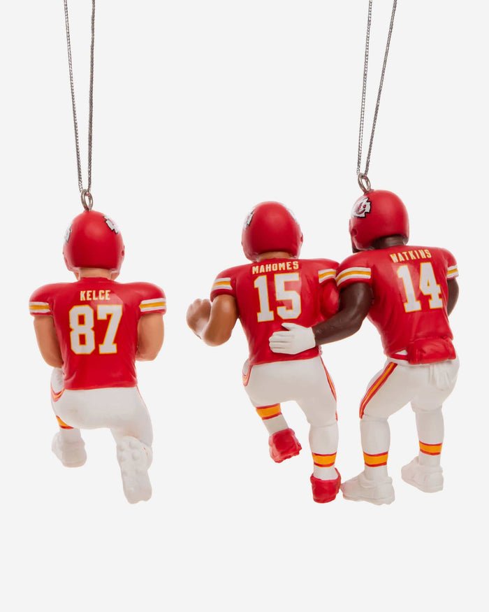 Kansas City Chiefs 3 Player Team Celebration Ornament FOCO - FOCO.com
