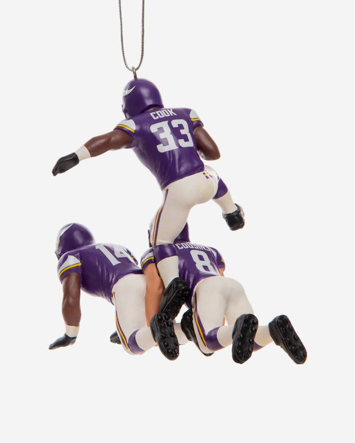 Minnesota Vikings 3 Player Team Celebration Ornament FOCO - FOCO.com