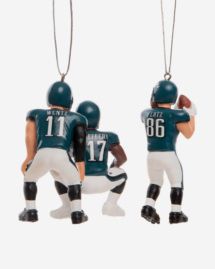 Philadelphia Eagles 3 Player Team Celebration Ornament FOCO - FOCO.com