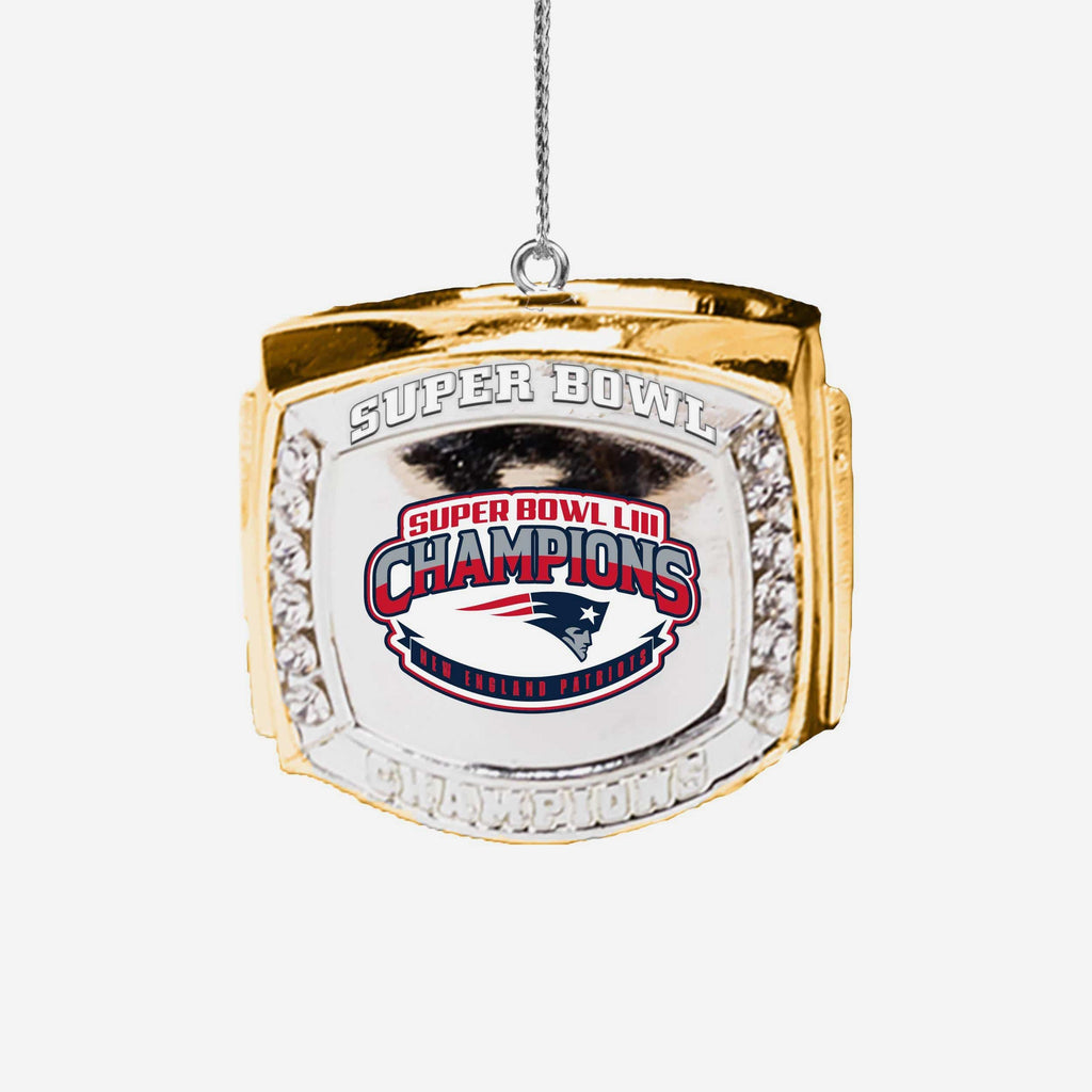 New England Patriots Super Bowl LIII Champions Ring Ornament FOCO - FOCO.com