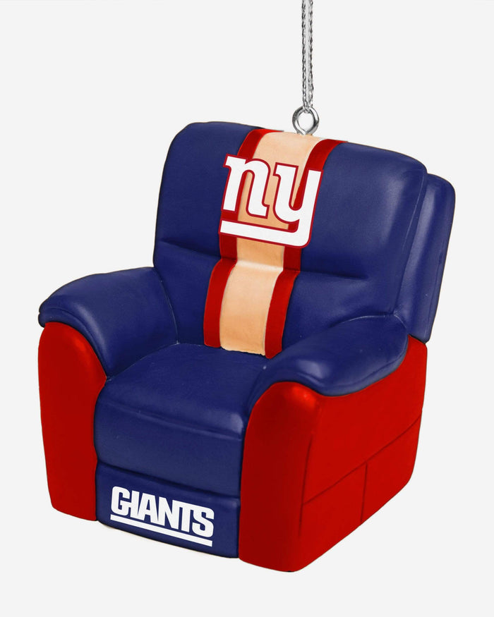 New York Giants Reclining Chair Ornament FOCO - FOCO.com