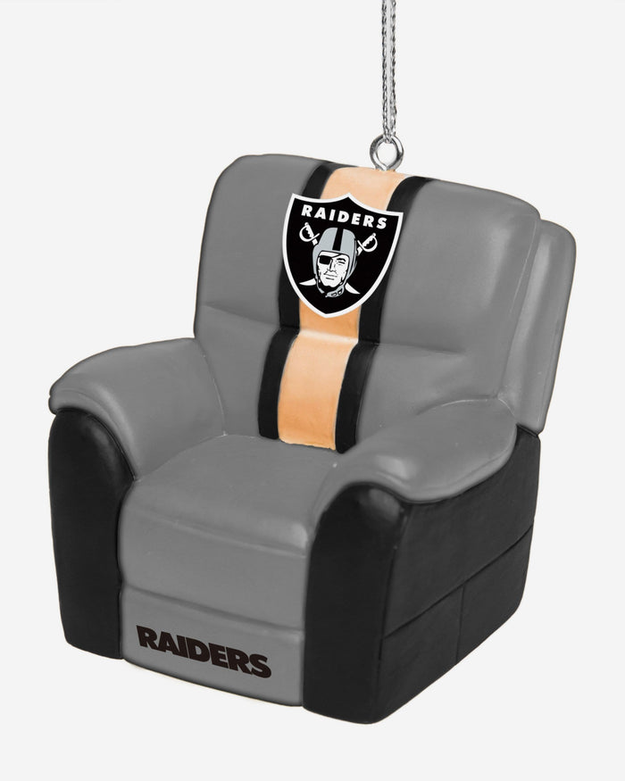 Oakland Raiders Reclining Chair Ornament FOCO - FOCO.com
