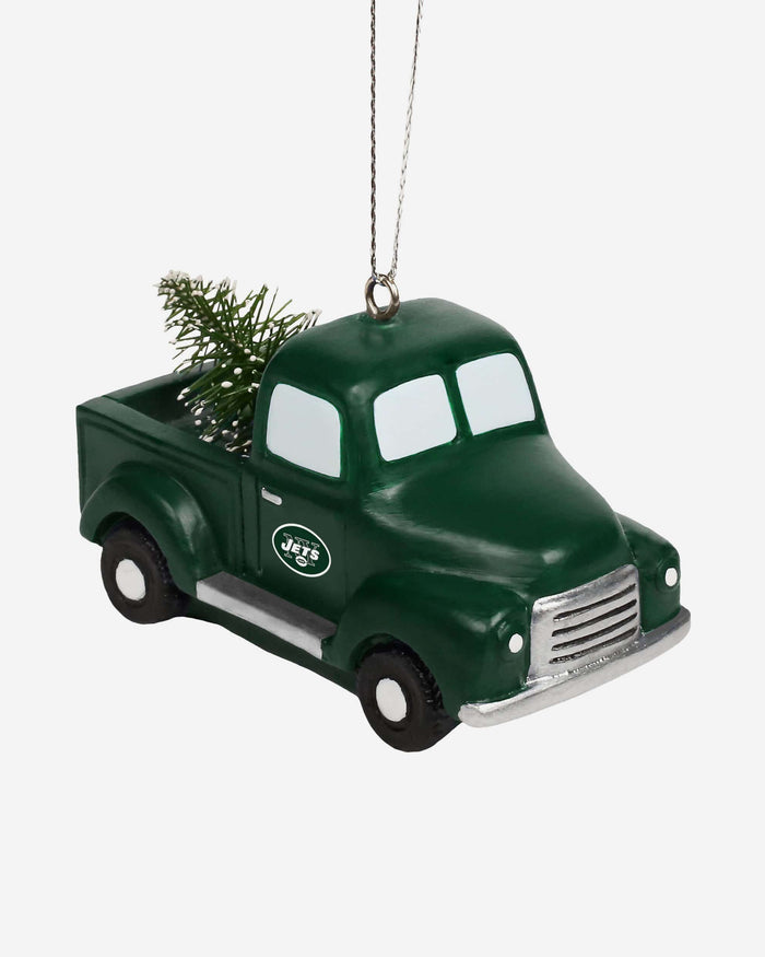 New York Jets Truck With Tree Ornament FOCO - FOCO.com