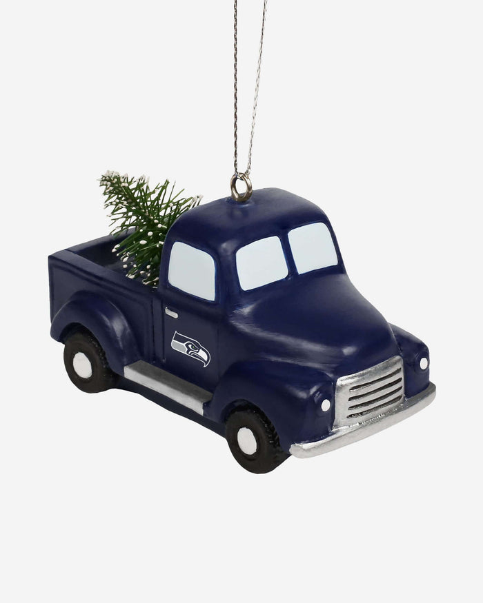Seattle Seahawks Truck With Tree Ornament FOCO - FOCO.com