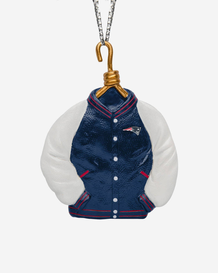 New England Patriots Varsity Jacket Ornament FOCO - FOCO.com