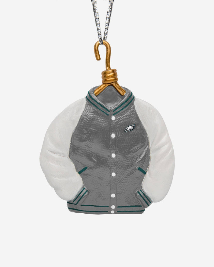 Philadelphia Eagles Varsity Jacket Ornament FOCO - FOCO.com