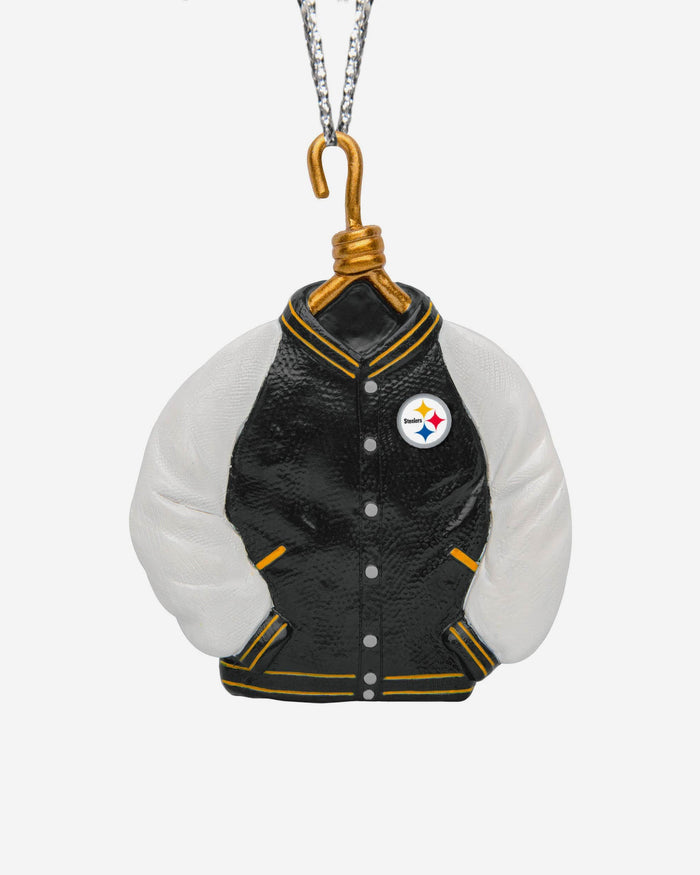 Pittsburgh Steelers Varsity Jacket Ornament FOCO - FOCO.com