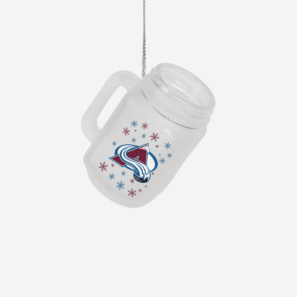 Colorado Avalanche Mason Jar Ornament FOCO - FOCO.com