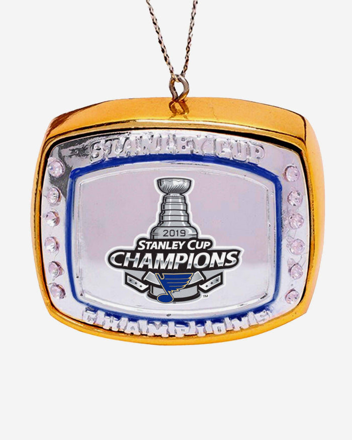 St Louis Blues 2019 Stanley Cup Champions Ring Ornament FOCO - FOCO.com