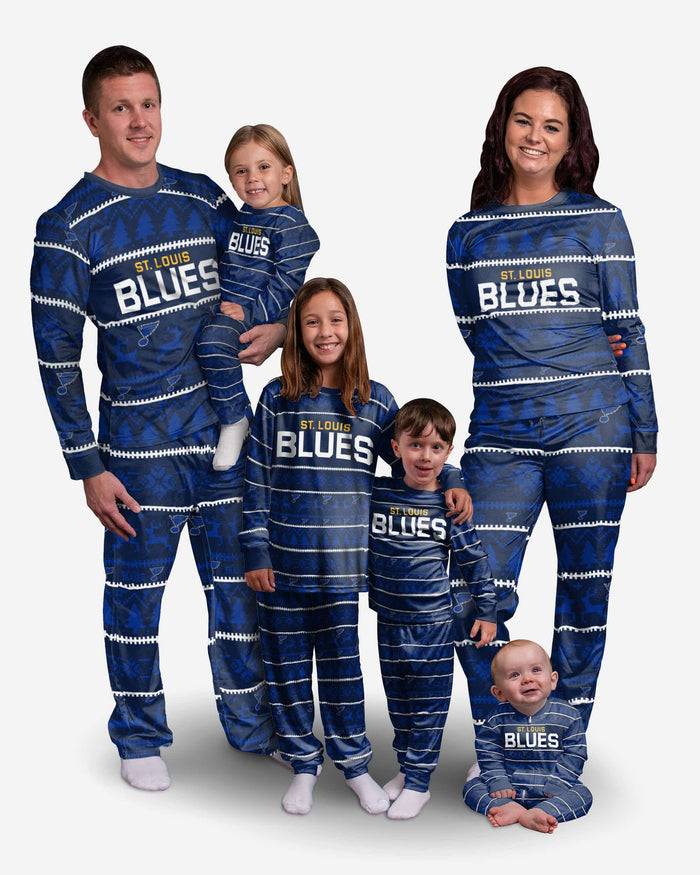 St Louis Blues Toddler Family Holiday Pajamas FOCO - FOCO.com