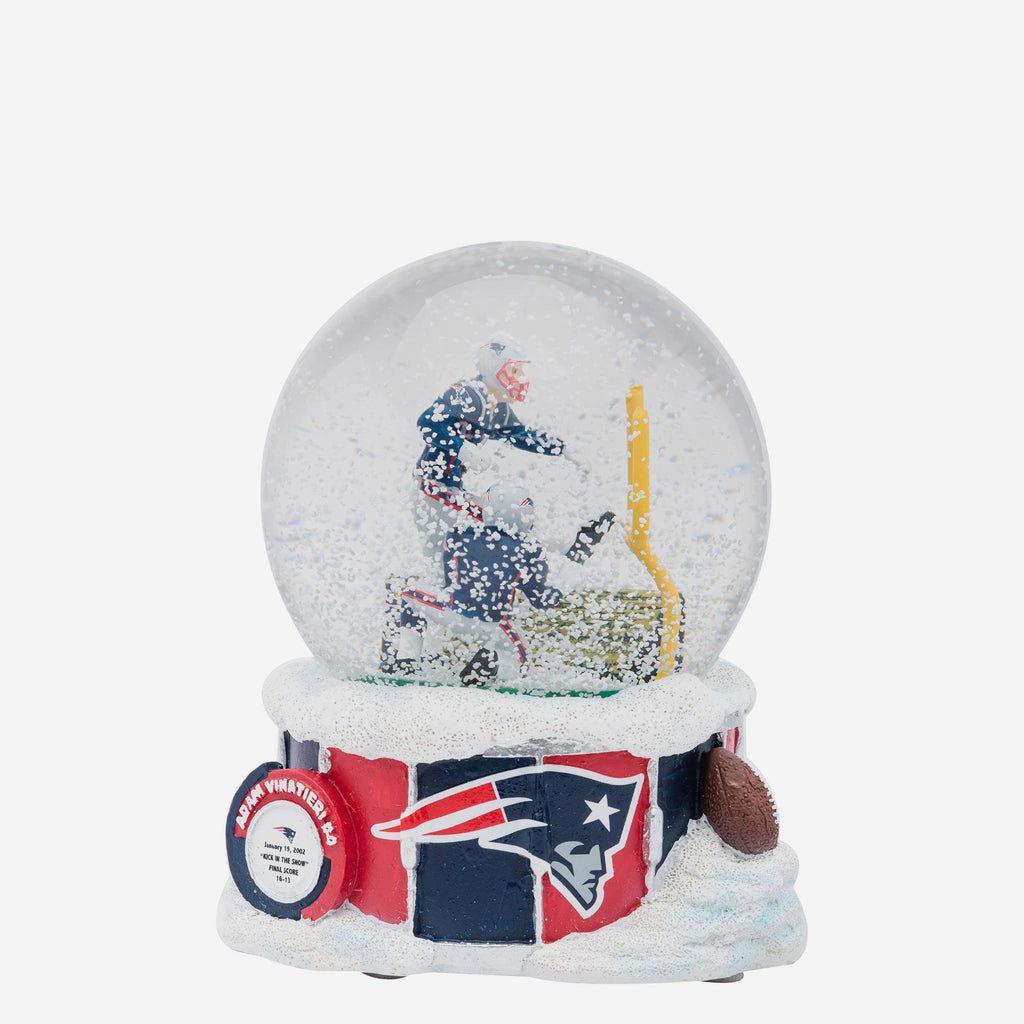New England Patriots Iconic Moment Snow Globe FOCO - FOCO.com
