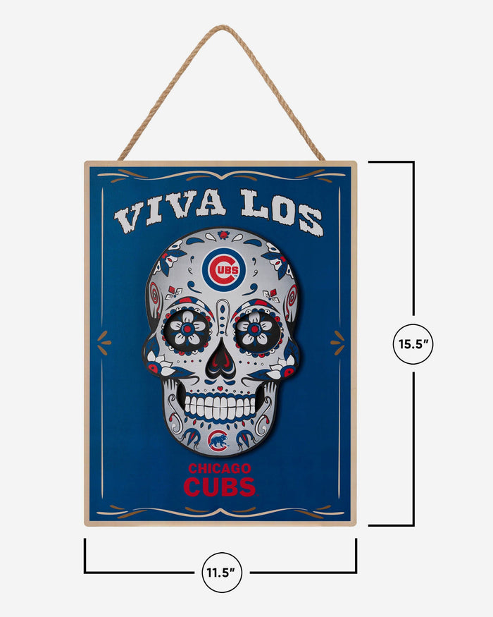 Chicago Cubs Day Of The Dead LED Sign FOCO - FOCO.com